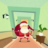 Anno di Santa Claus Indoor Home Happy New Immagini Stock Libere da Diritti
