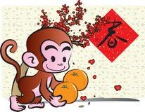 Anno di scimmia Immagini Stock Libere da Diritti