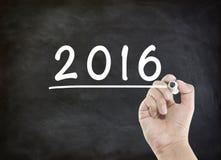 Anno 2016 di scrittura Immagini Stock