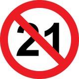 21 anno di segno di limitazione illustrazione di stock