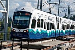 Anno di trasporto ferroviario dell'indicatore luminoso di collegamento del â di SEATTLE terzo Fotografia Stock