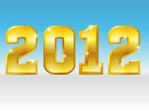 Anno dorato 2012 illustrazione di stock