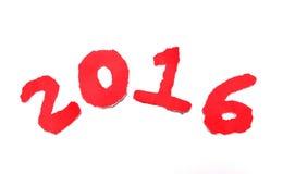 anno felice 2016 del Ne del ‡ del ¹ del à Fotografia Stock