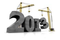 Anno nuovo di costruzione Immagine Stock Libera da Diritti