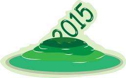 Anno verde 2015 illustrazione di stock