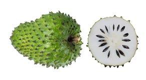 Annona muricata l'oursop portent des fruits Sugar Apple, pomme d'ustard d'isolement image stock