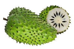 Annona muricata.Soursop fruit Stock Images
