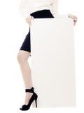 Annonce Bannière vide de l'espace de copie et jambe femelle Image stock