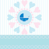 Annonce d'arrivée de bébé Photos stock