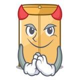 Annonce d'enveloppe de diable dans le cabinet de mascotte illustration libre de droits
