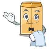 Annonce d'enveloppe de serveur dans le cabinet de mascotte illustration stock