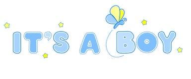 Annonce de bébé Image libre de droits