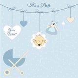 Annonce de bébé illustration de vecteur
