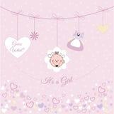Annonce de bébé illustration libre de droits