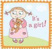 Annonce de bébé illustration stock