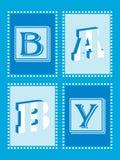 Annonce de bébé Image stock