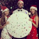Annonce de célébration de Noël Image stock