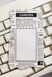 Annonce de carrière Image libre de droits