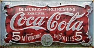 Annonce de coca-cola de cru Image stock