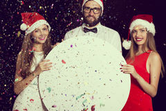 Annonce de fête de Noël Photo stock