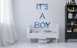 Annonce de la naissance d'un garçon illustration de vecteur