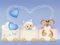 Annonce de naissance de bébé illustration libre de droits