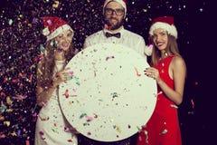 Annonce de partie du ` s de nouvelle année Photos libres de droits