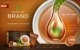 Annonce de thé noir Photographie stock libre de droits