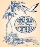 Annonce de vacances illustration de vecteur
