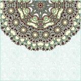 Annonce florale de carte de cercle fleuri Photographie stock