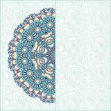 Annonce florale de carte de cercle fleuri Images libres de droits