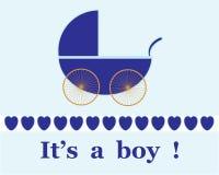 Annonce neuve de bébé illustration stock