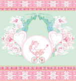 Annonce neuve de bébé Image libre de droits