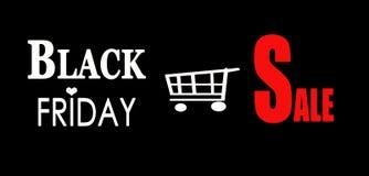 Annonce noire de vente de vendredi photos libres de droits