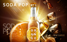 Annonce orange de soda illustration libre de droits