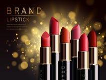 Annonce rouge de rouge à lèvres Photo stock