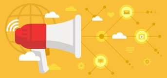 Annonces, connexions et types de données photo libre de droits