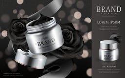 Annonces cosmétiques crèmes Photographie stock libre de droits