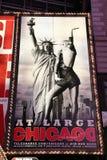 Annonces d'exposition de Broadway Images stock