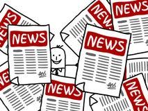 Annonces d'homme d'affaires et de NOUVELLES Image libre de droits