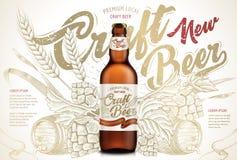 Annonces de bière de métier illustration libre de droits