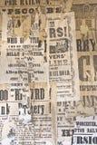 Annonces de cru. Photographie stock libre de droits