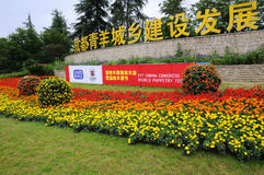 Annonces en fleurs (21èmes UNIMA) Photographie stock libre de droits