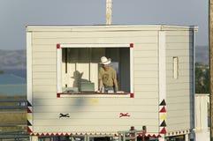 Annonceur avec le chapeau de cowboy Photo libre de droits