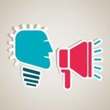 Annoncez l'utilisation de l'information du haut-parleur illustration de vecteur