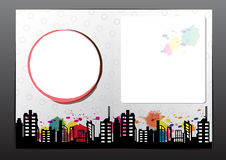 Annoncez la conception de brochure de disposition illustration stock
