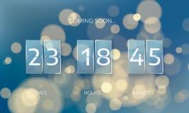 Annoncez la conception de panneau de compte à rebours Jours, heures et minutes de compte Compte à rebours de bannière de Web à la illustration de vecteur