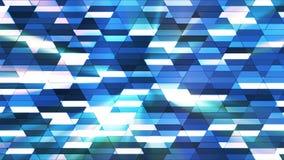 Annoncez le scintillement Diamond Hi-Tech Small Bars, bleu, résumé, Loopable, 4K illustration stock