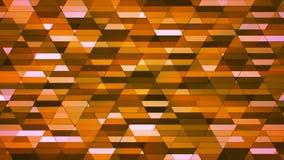 Annoncez le scintillement Diamond Hi-Tech Small Bars, orange, résumé, Loopable, 4K illustration stock