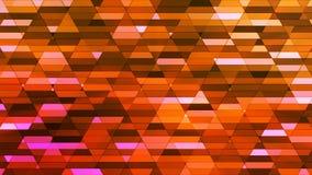 Annoncez le scintillement Diamond Hi-Tech Small Bars, orange, résumé, Loopable, 4K illustration libre de droits